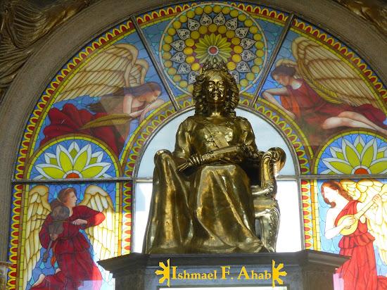Bronze statue of Leah Adarna in Temple of Leah in Cebu City