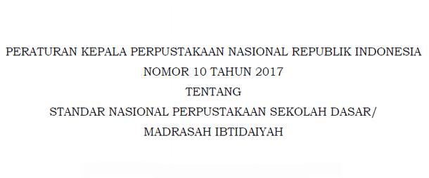 Standar Nasional Perpustakaan SD - MI