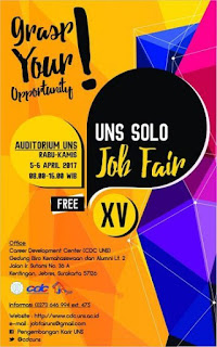 LOKER SOLORAYA JOB FAIR UNS SOLO 5-6 APRIL 2017