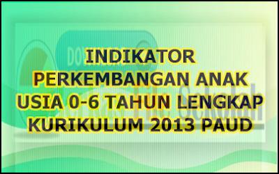 Indikator PAUD Kurikulum 2013 Terbaru Usia 0-6 Tahun | Berkas File Sekolah