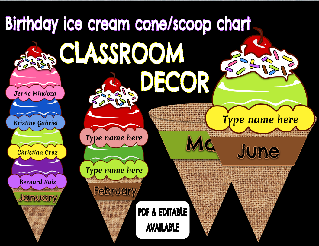 Sample ice cream cone chart are below also  love teaching ideas rh eommasarangspot