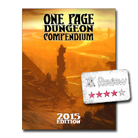 Frugal GM Review: One Page Dungeon Compendium 2015 Edition PDF