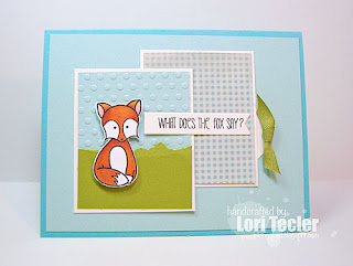 What Does the Fox Say? card-designed by Lori Tecler/Inking Aloud-stamps from Sweet Stamp Shop