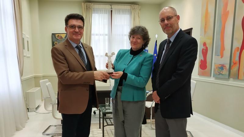Συνάντηση Αντιπεριφερειάρχη Έβρου με την Επιτετραμμένη της Πρεσβείας του Καναδά