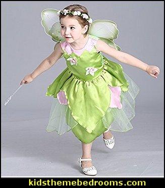 Princess Girl Flower Fairy Green Princess Dress Up Party Costume 7f1b8763c150