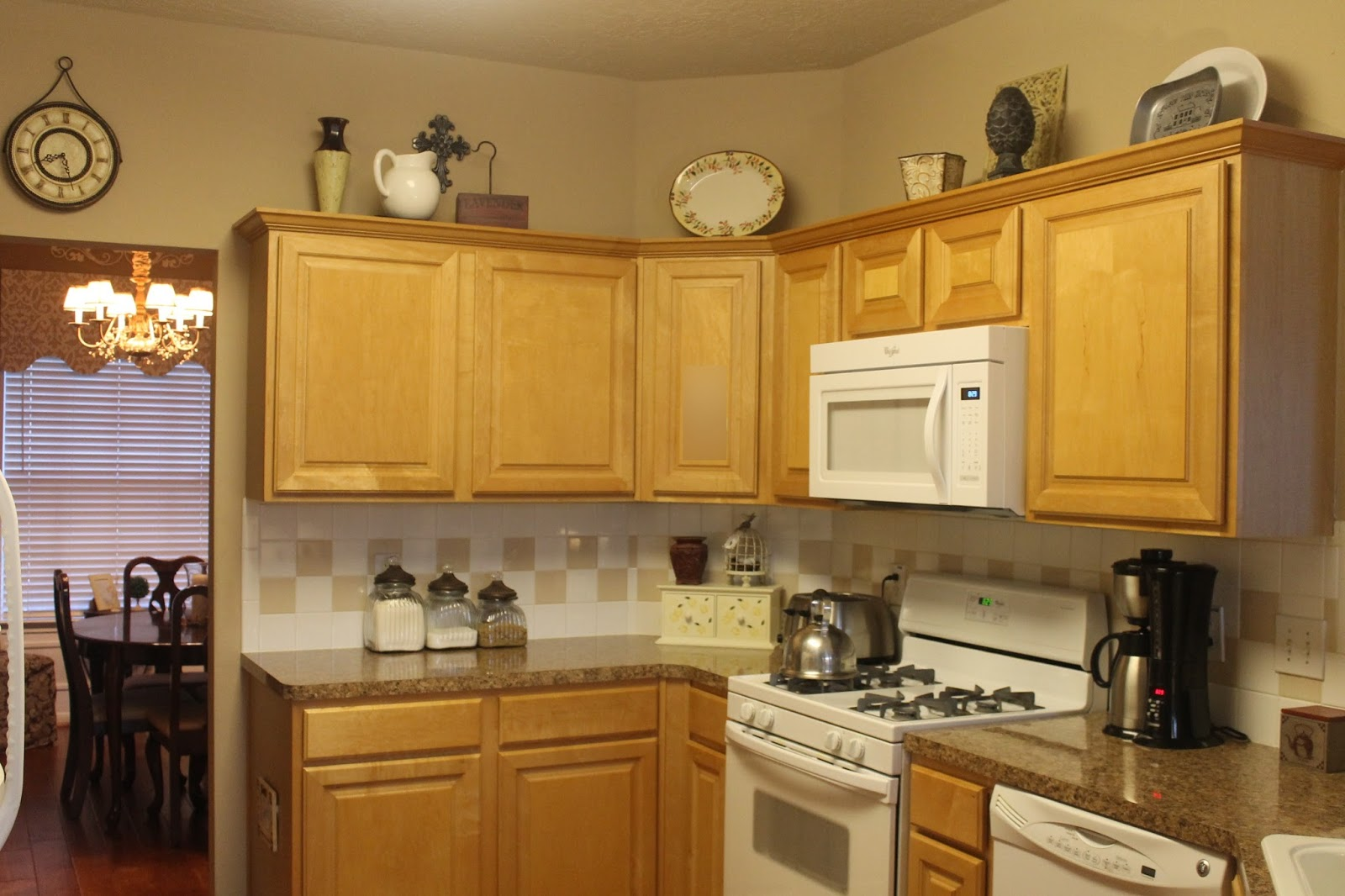 Decorating Above Kitchen Cabinets Texas Decor Rearranging The Tops Of My Kitchen Cabinets
