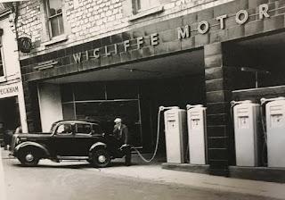Wicliffe, Russell Street, Stroud -  petrol pumps