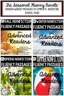 Fluency Seasonal Bundle Set by Teaching Tidbits and More with Jamie