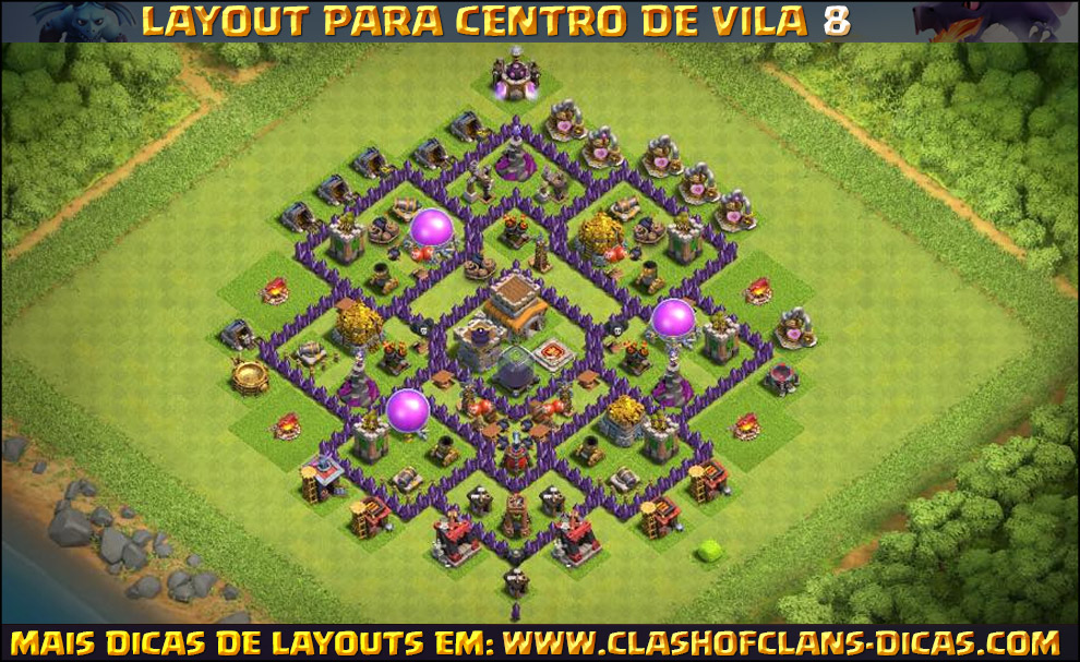 layouts de cent town hall 6 clash of clans - Layout Cv 4 Clash Of Clans