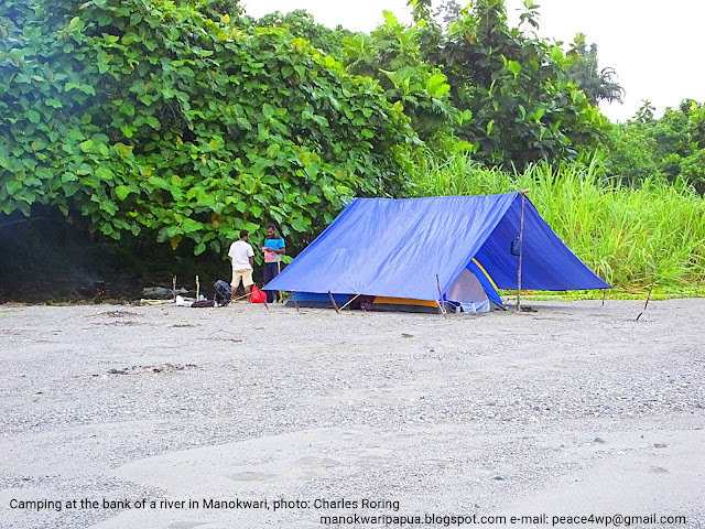 British tourists were camping in Manokwari