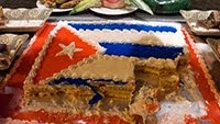 CAKE WITH CUBAN FLAG