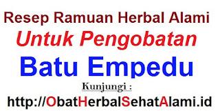 Resep Ramuan obat herbal alami pengobatan batu empedu tradisional