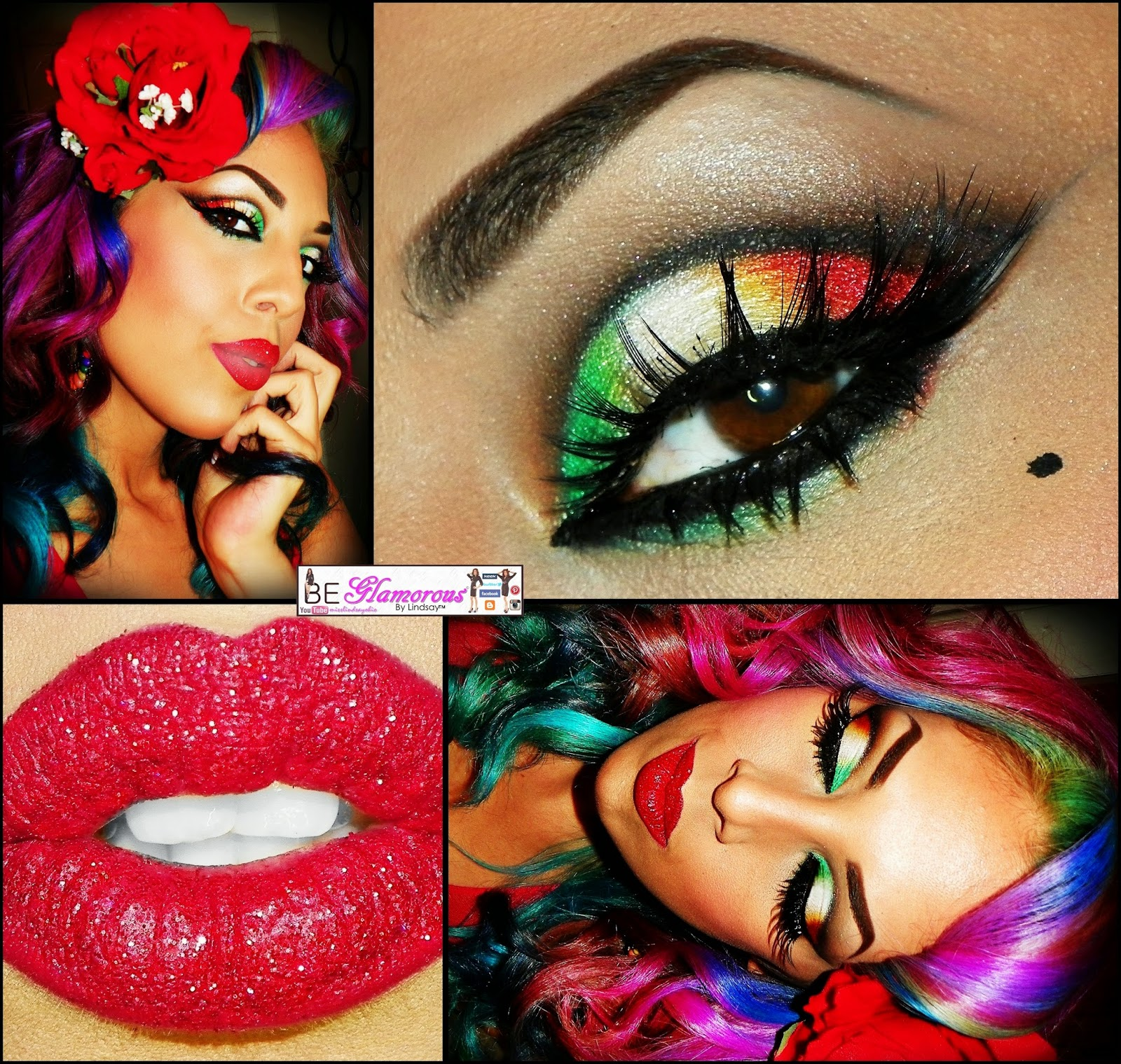 Be Glamorous By Lindsay Cinco De Mayo Makeup Tutorial Outfit