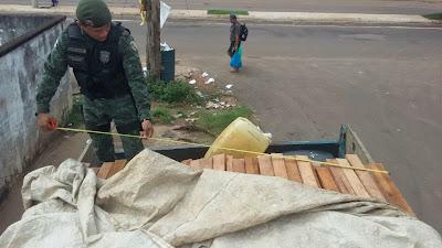 Batalhão de Policiamento Ambiental (CPAmb/BPAmb) apreendeu madeira ilegal na AM 070