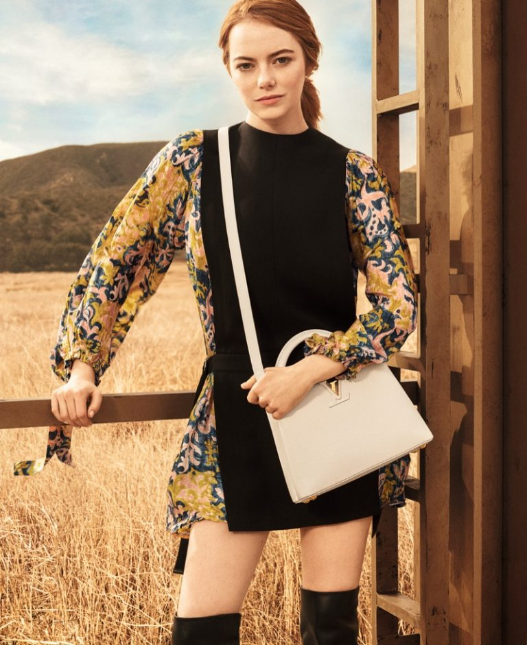 Emma Stone poses in California desert for Louis Vuitton 'Spirit of Travel' 2018 campaign