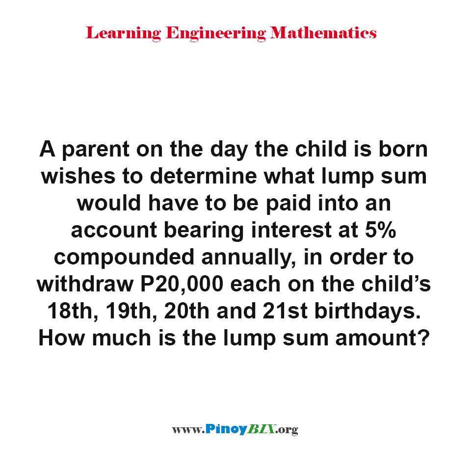 How much is the lump sum amount?