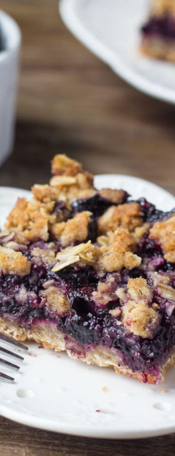 Blueberry Oatmeal Crumble Bars