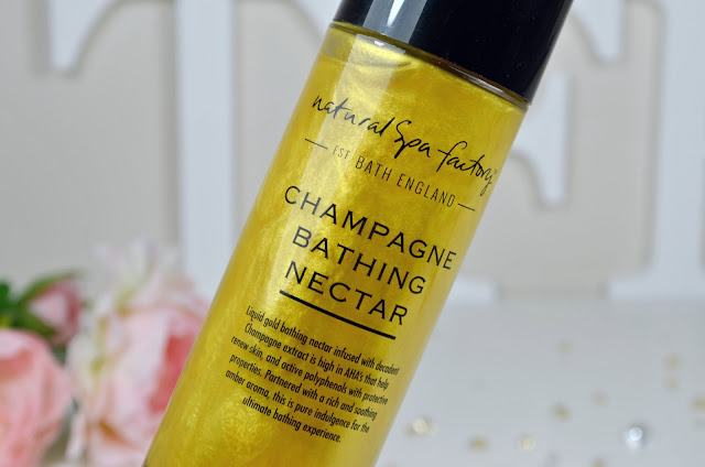 Natural Spa Factory - Champagne Bathing Nectar - Spa products - Bath products - skincare - fragranced bath product - at home spa - luxury bath product - Review
