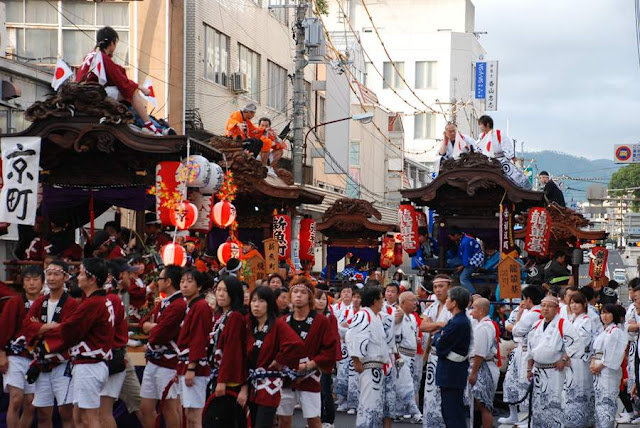 Tsuyama Matsuri, Osumi-jinja Shrine, Takano-jinja Shrine, Tsuyama, Okayama