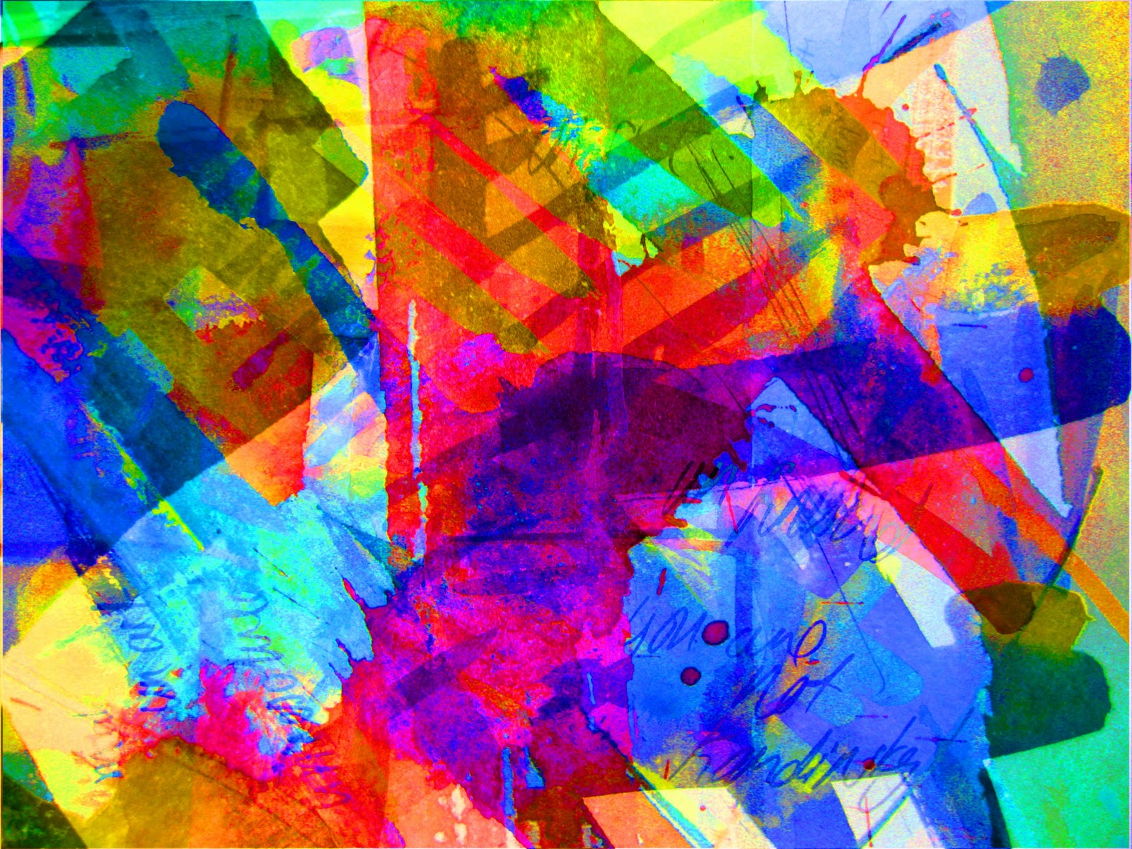 Abstract Fox Art Abstract Fox Painting