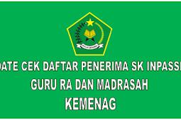 Update Cek Daftar Penerima SK Inpassing Guru RA dan Madrasah Kemenag