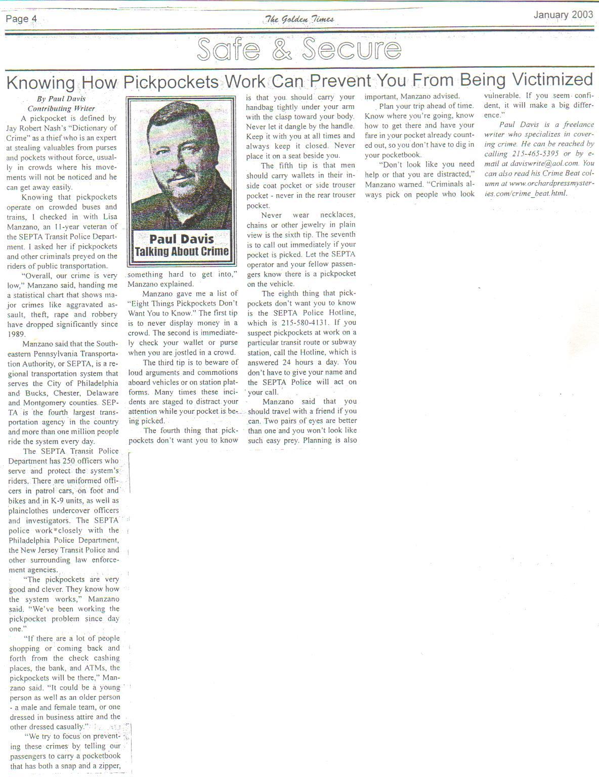 Paul Davis On Crime: Three Of My Newspaper Crime