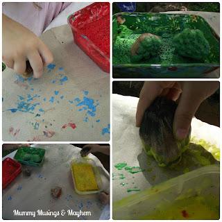 Toddler Paint stamping