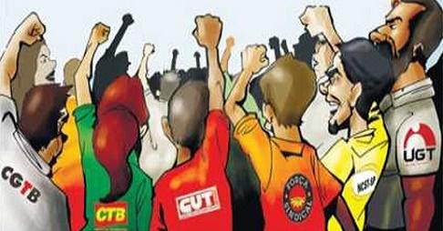 Resultado de imagem para centrais sindicais charges