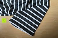 Ärmel: AIYUE Frauen Monochrom Streifen mit kurzen Hülsen Etuikleid Figurbetontes Kleid Partykleid Clubwear