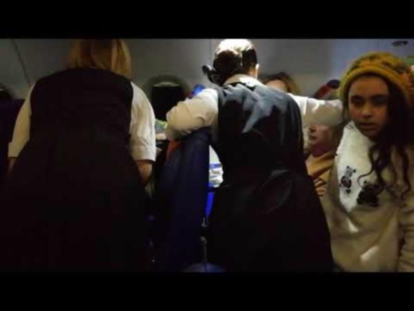 Жена депутата подралась в самолёте! Видео