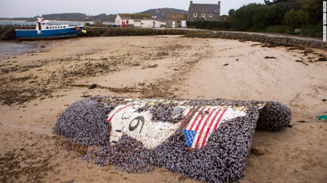 Debris from SpaceX Falcon 9 rocket recovered off coast of Southwest England. Credit: Tresco Island