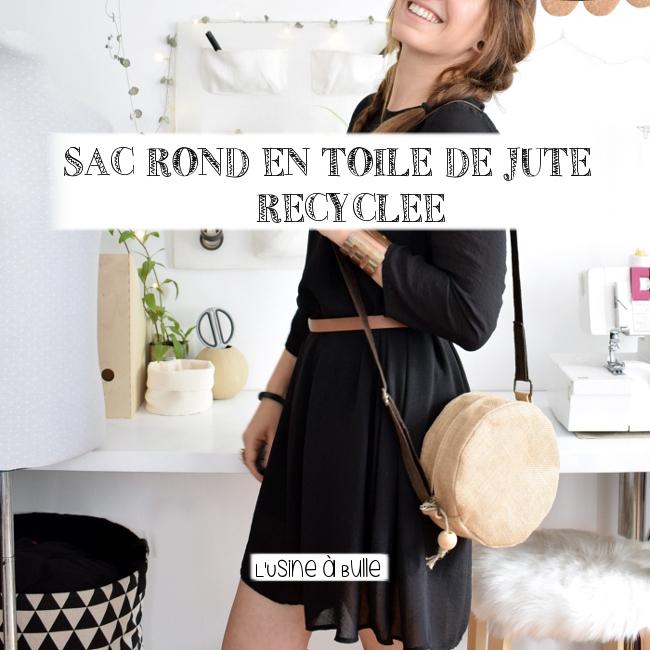 diy sac rond en toile de jute recycl e l 39 usine bulle. Black Bedroom Furniture Sets. Home Design Ideas