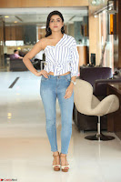 Avantika Mishra in One Shoulder Crop Top and Denim Jeggings ~  Exclusive 060.JPG