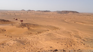 Nubian Desert is rocky and rugged