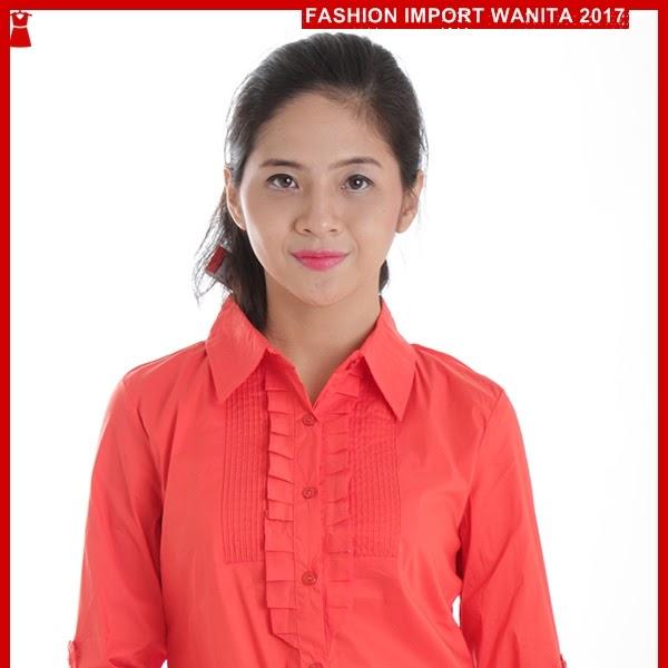 ADR098 Kemeja Merah LSTG Tangan Panjang Import BMG