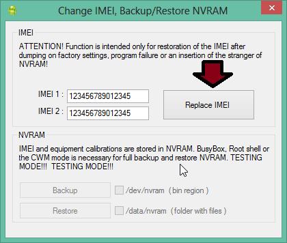 Replace IMEI Mediatek