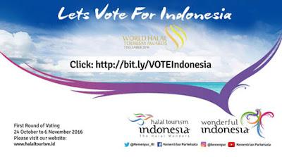 Gerakan Vote World Halal Tourism Award 2016