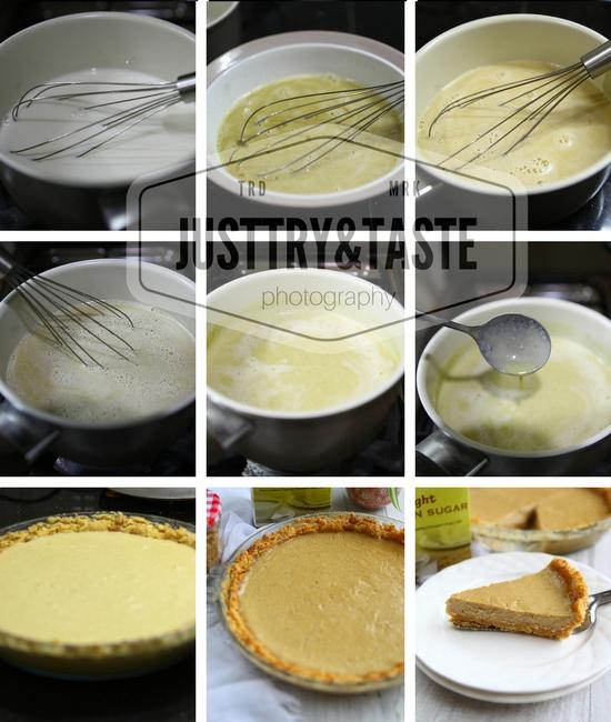 Resep Brown Sugar Custard Pie dengan Biscuit Crust