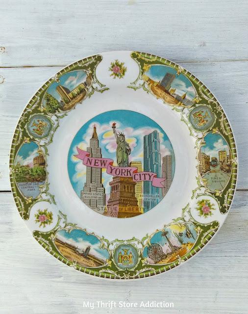 New York City souvenir plate