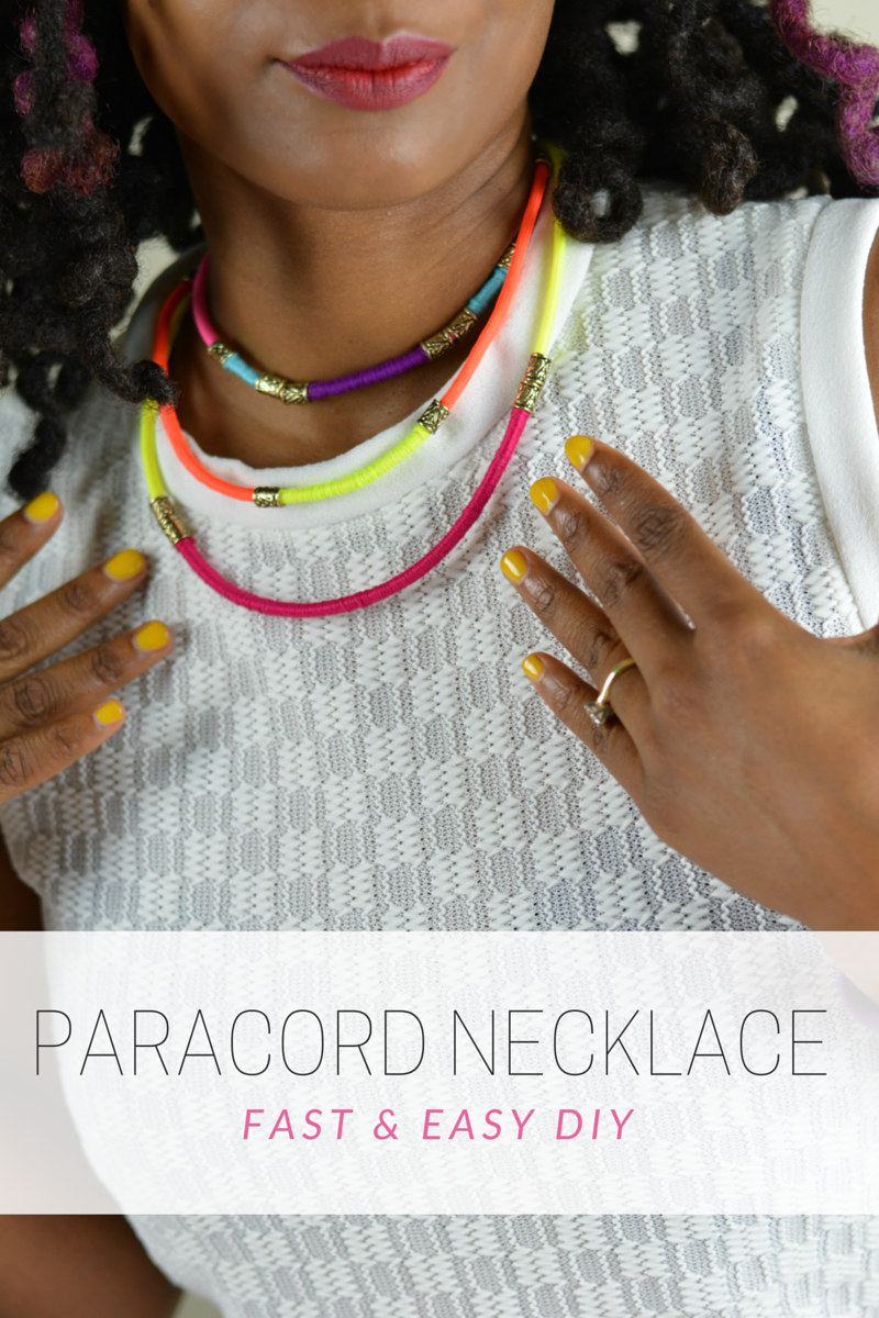 vibrant parachute cord necklaces-diy