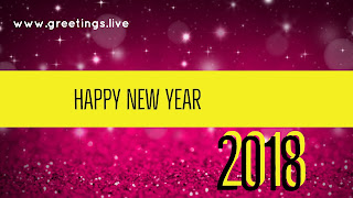 Cinematic Title style merron colour background with Sparkles new year 2018 Greetings