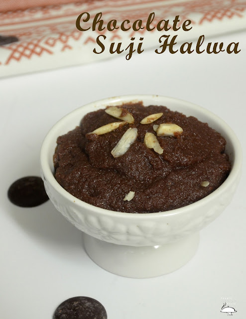 Chocolate Sooji Halwa | Sooji Halwa With A Twist