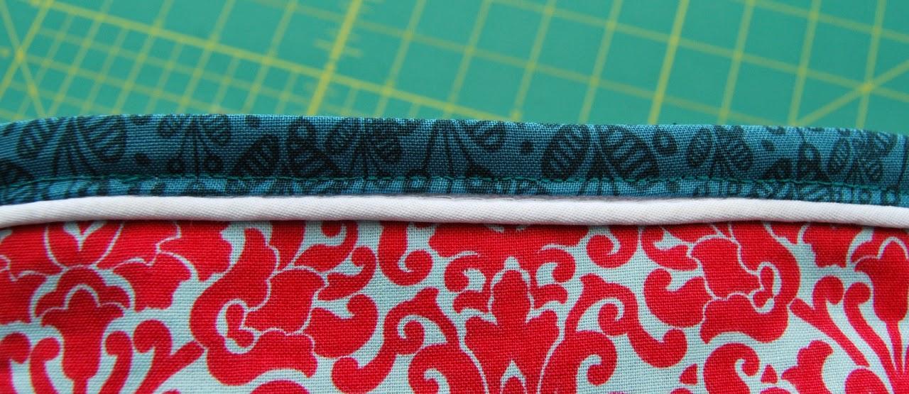 stitching around top edge