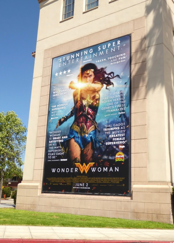 Wonder Woman movie reviews billboard