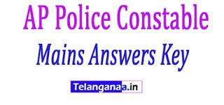 AP Police Constable Mains Answers Key