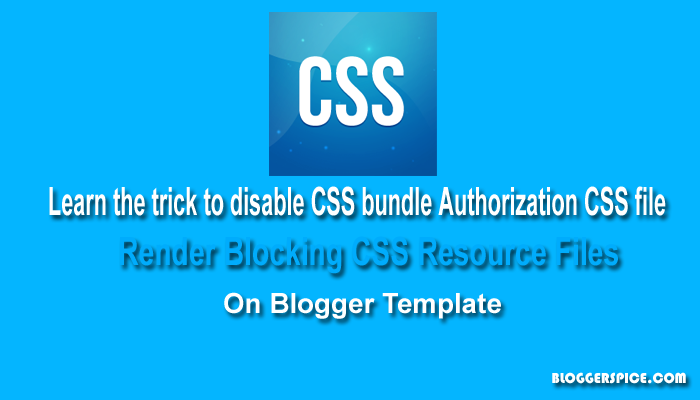 render blocking CSS resource