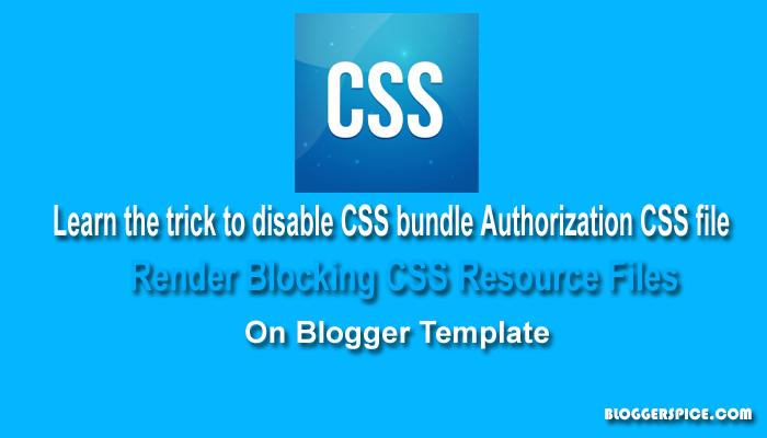 render blocking CSS resource
