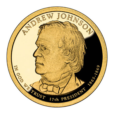 Andrew Johnson 2011 US Presidential One Dollar Coin