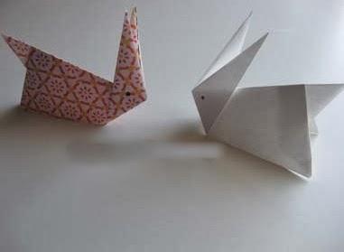 Origami Tavşan Yapımı