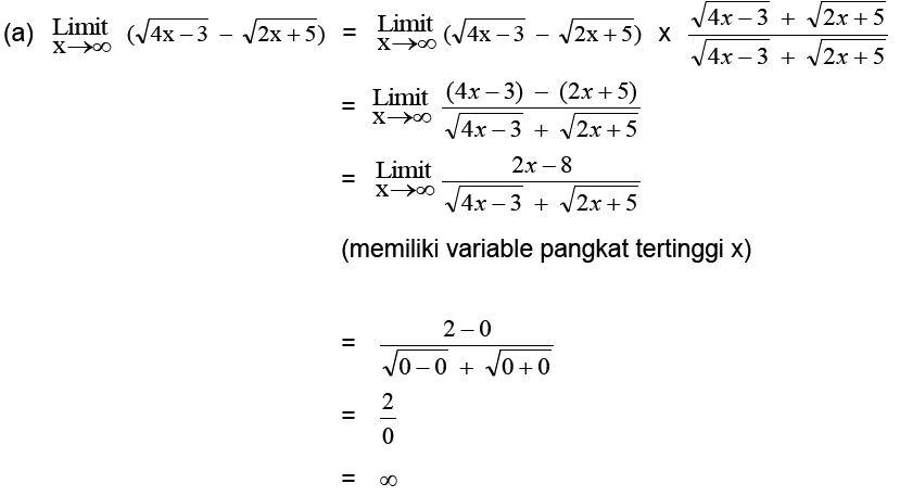 Limit Tak Hingga Fungsi Aljabar - Materi Lengkap ...